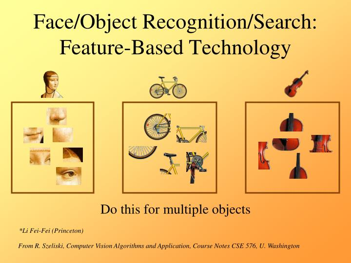 Face/Object Recognition/Search: