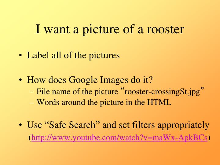 I want a picture of a rooster