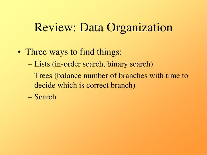 Review data organization1