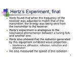 hertz s experiment final