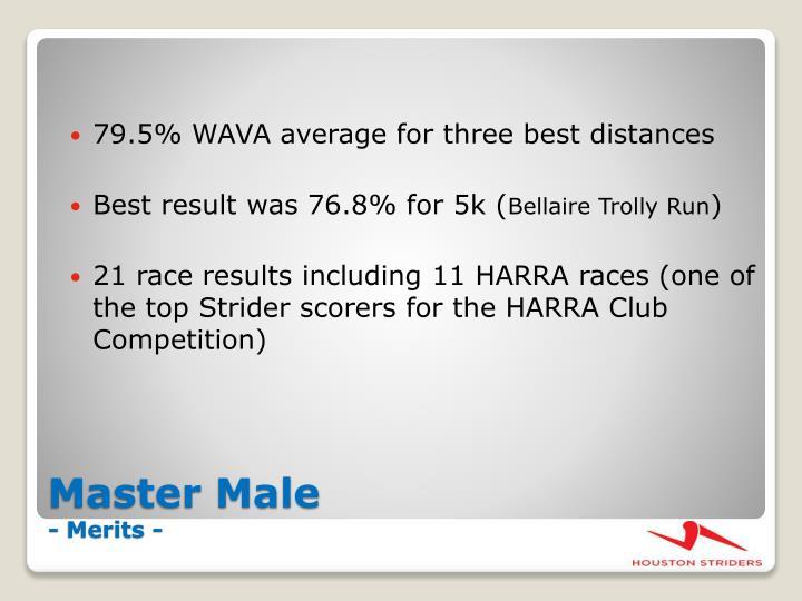 79.5% WAVA average for three best distances