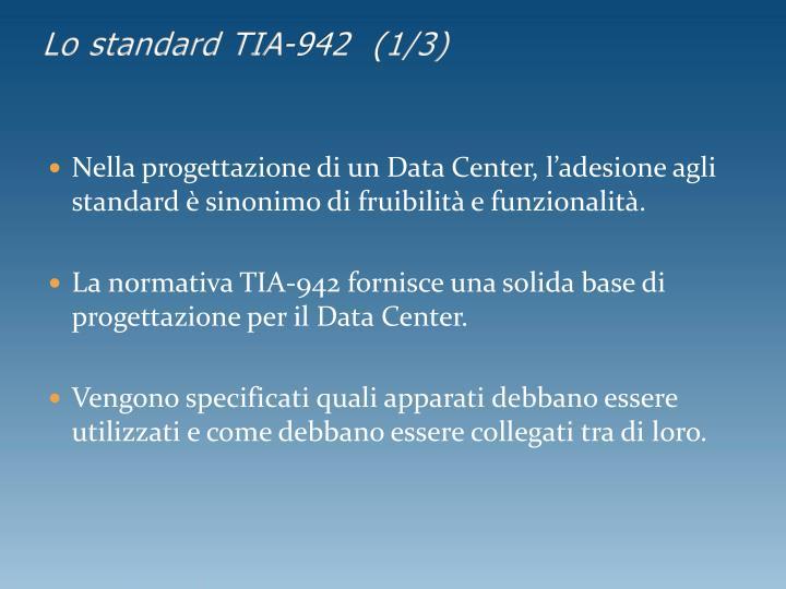 Lo standard TIA-942  (1/3)