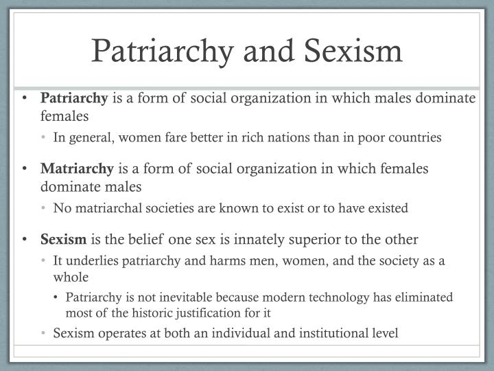 Patriarchy and Sexism