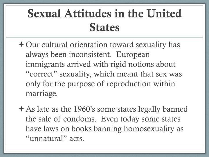Sexual Attitudes in the United States