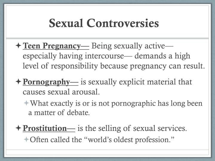 Sexual Controversies