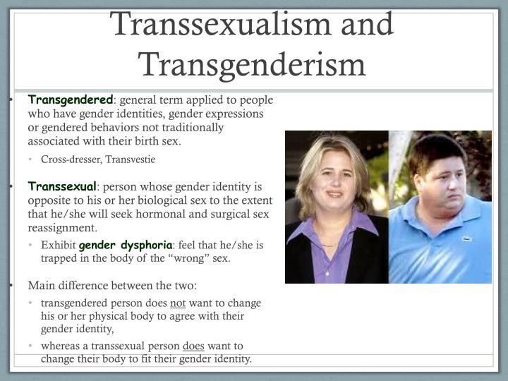 What is the difference between transgender and transexual
