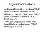 logical combinations