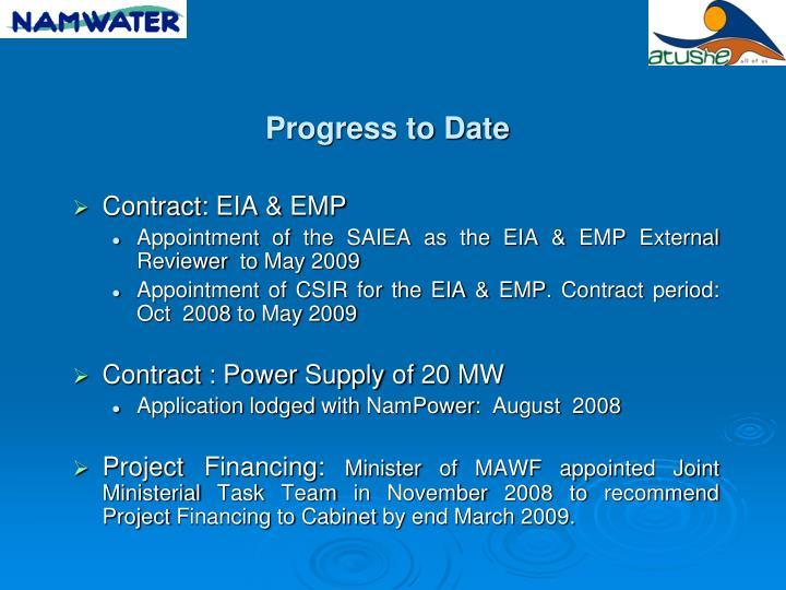 Contract: EIA & EMP