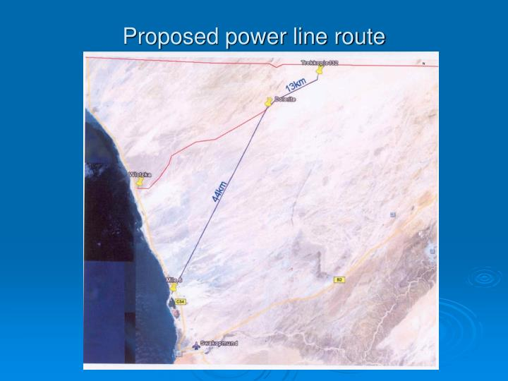 Proposed power line route