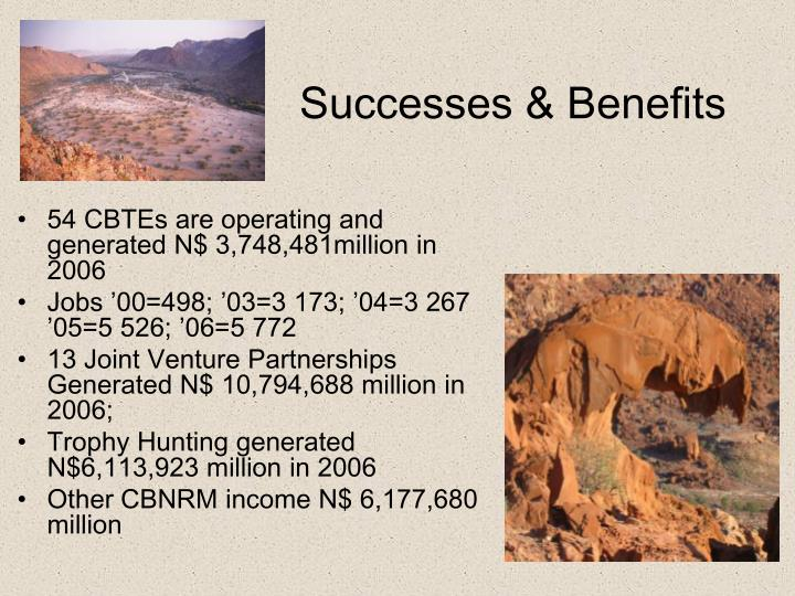 Successes & Benefits