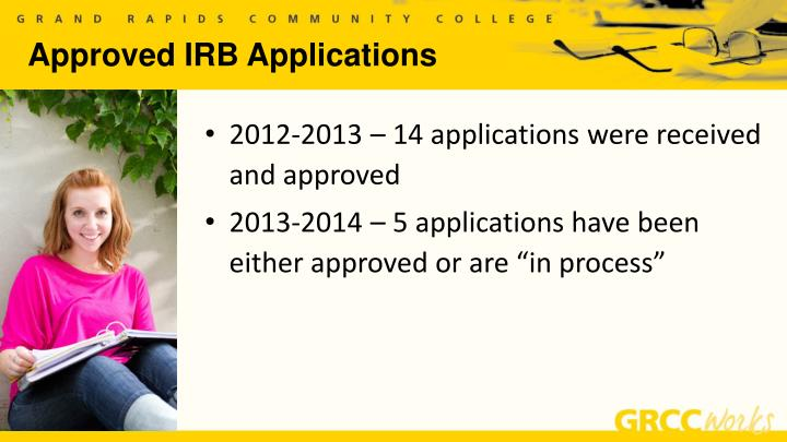 Approved IRB Applications
