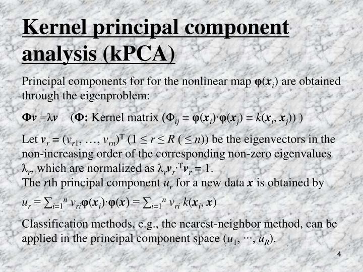 Kernel principal component  analysis (kPCA)