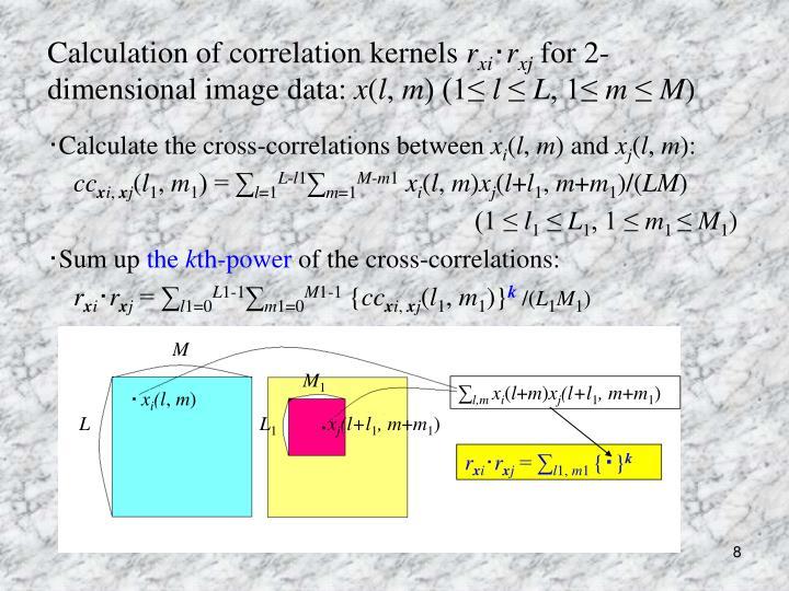 Calculation of correlation kernels