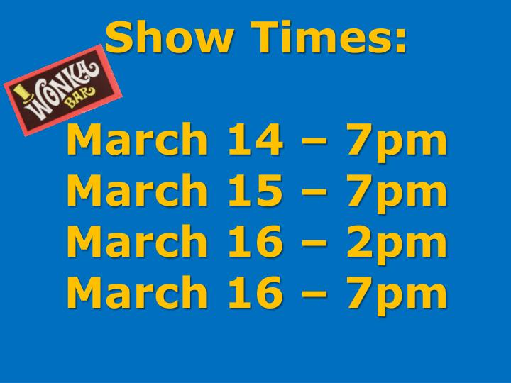 Show Times: