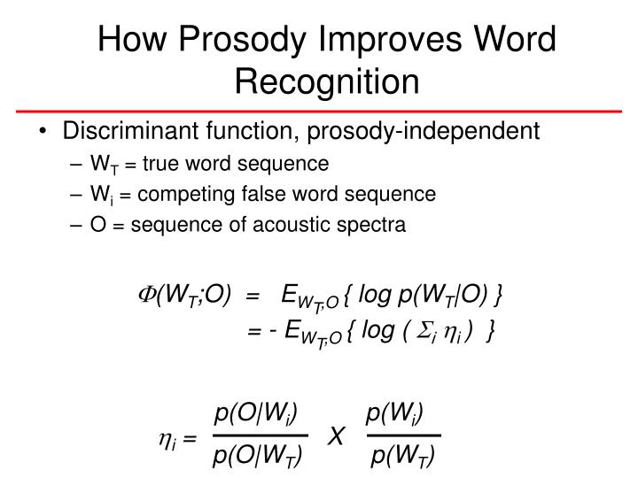 How Prosody Improves Word Recognition