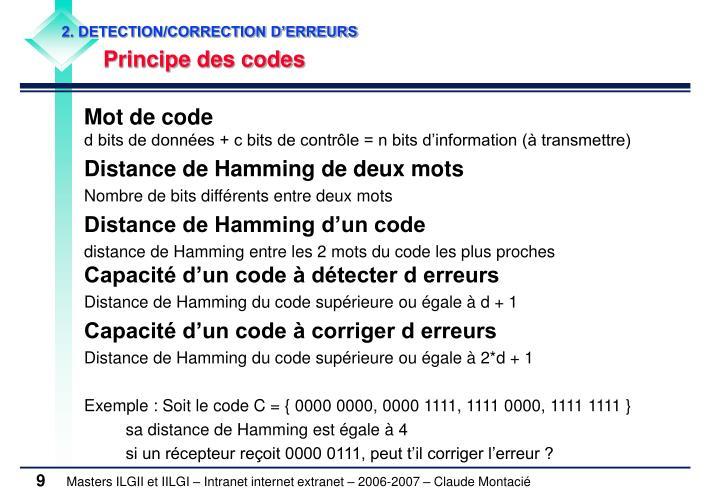 2. DETECTION/CORRECTION D'ERREURS