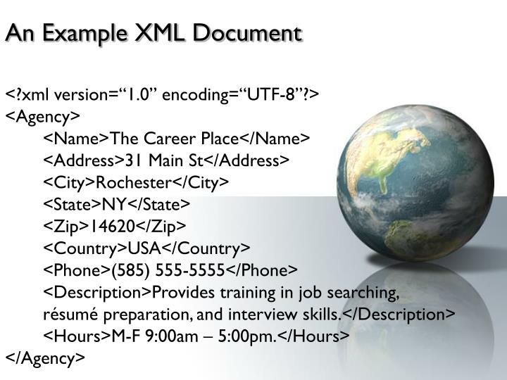An Example XML Document