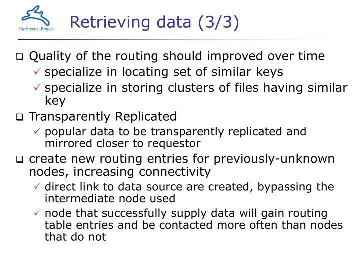 Retrieving data (3/3)