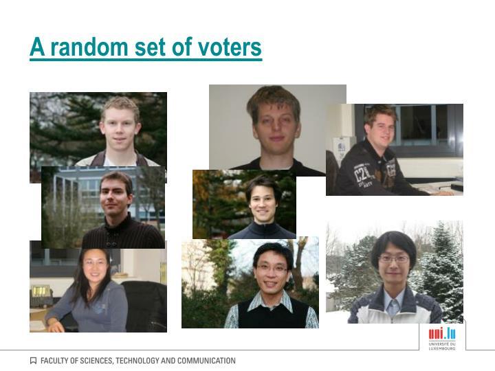 A random set of voters