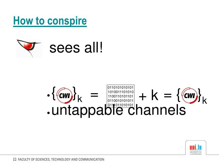 How to conspire