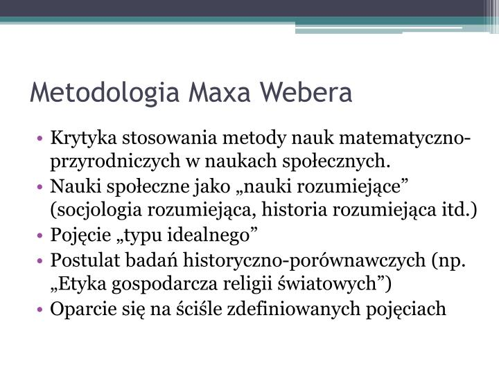 Metodologia Maxa Webera