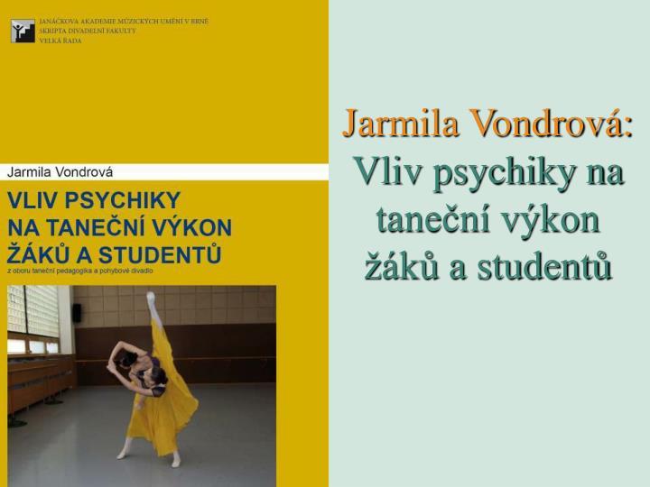 Jarmila Vondrová:
