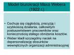 model biurokracji maxa webera 1922 r