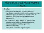 model biurokracji maxa webera 1922 r1
