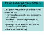 model biurokracji maxa webera 1922 r2