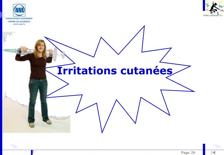 Irritations cutanées