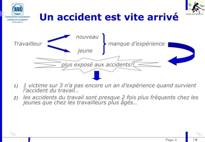 Un accident est vite arriv1
