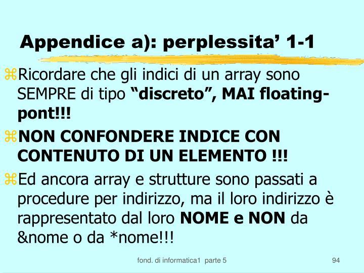 Appendice a): perplessita' 1-1