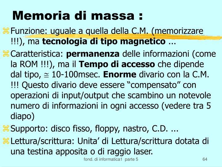 Memoria di massa :