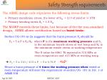 safety strength requirements