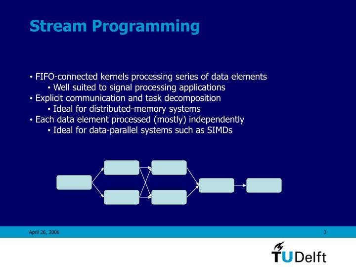 Stream programming