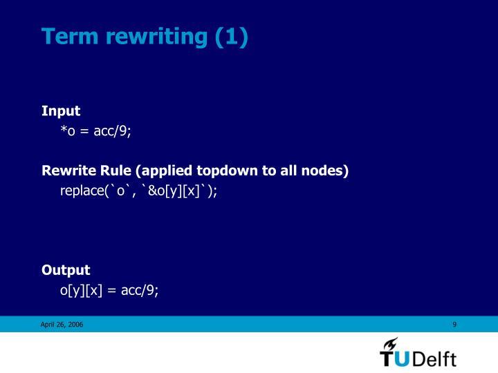 Term rewriting (1)
