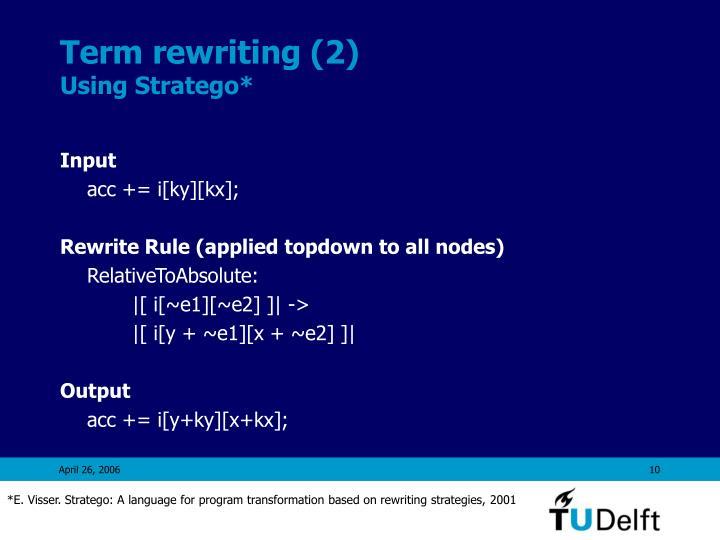 Term rewriting (2)