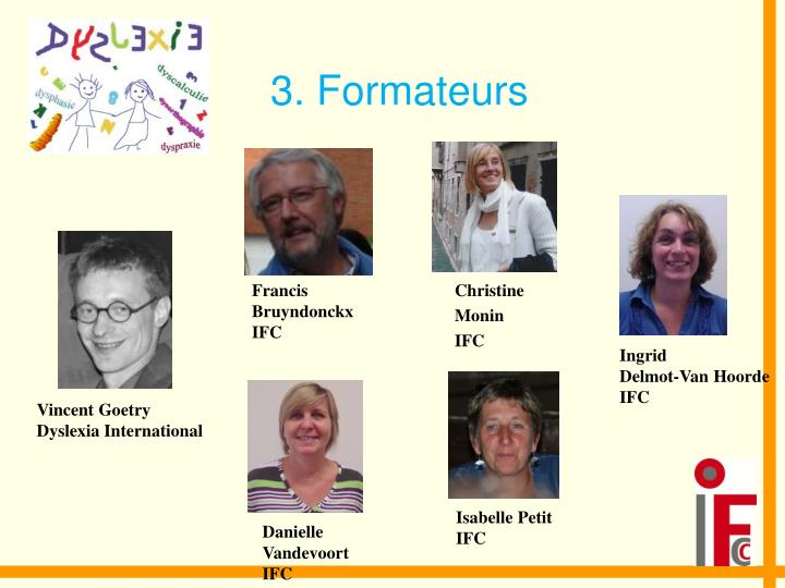 3. Formateurs