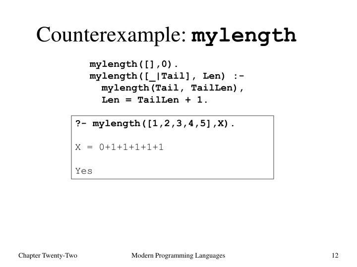Counterexample:
