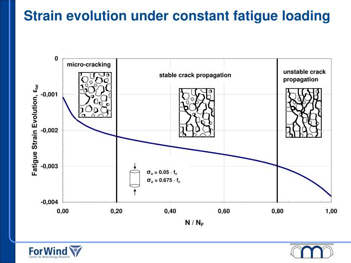 Strain evolution under constant fatigue loading