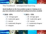 the feedback unexpected learning