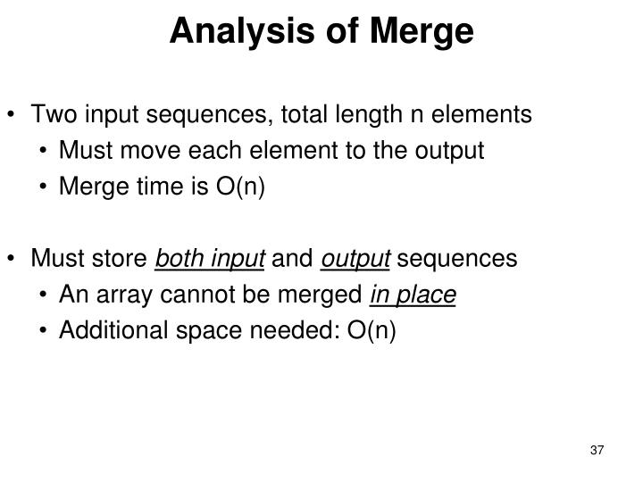 Analysis of Merge
