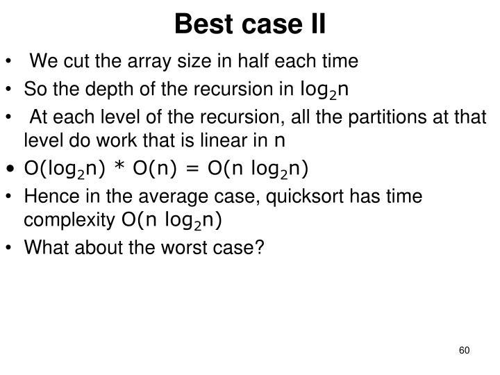 Best case II