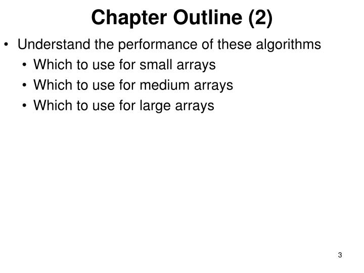 Chapter outline 2