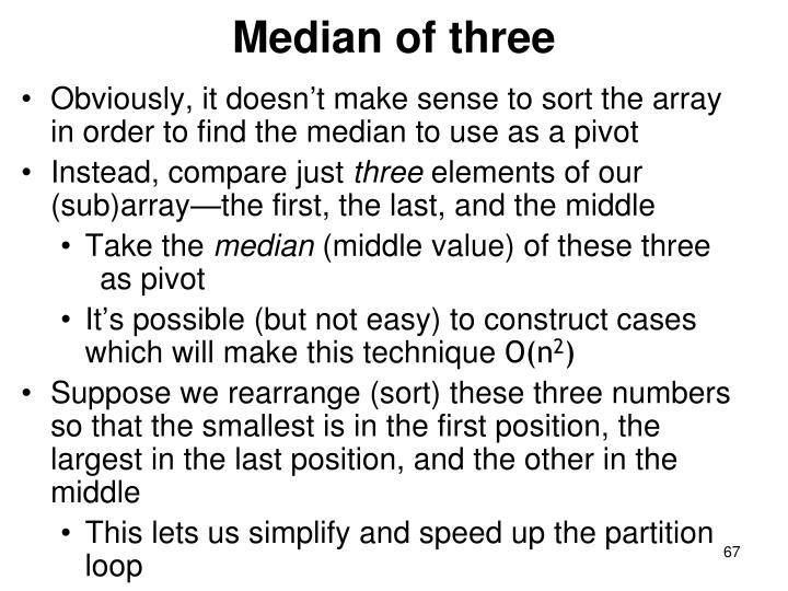 Median of three