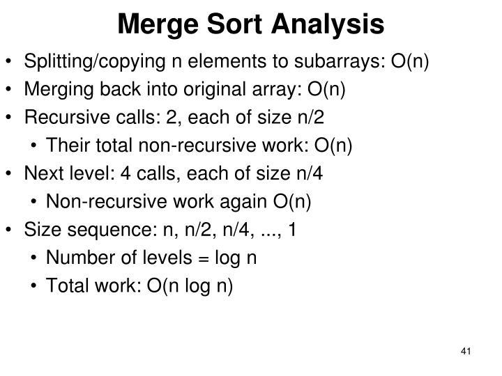Merge Sort Analysis