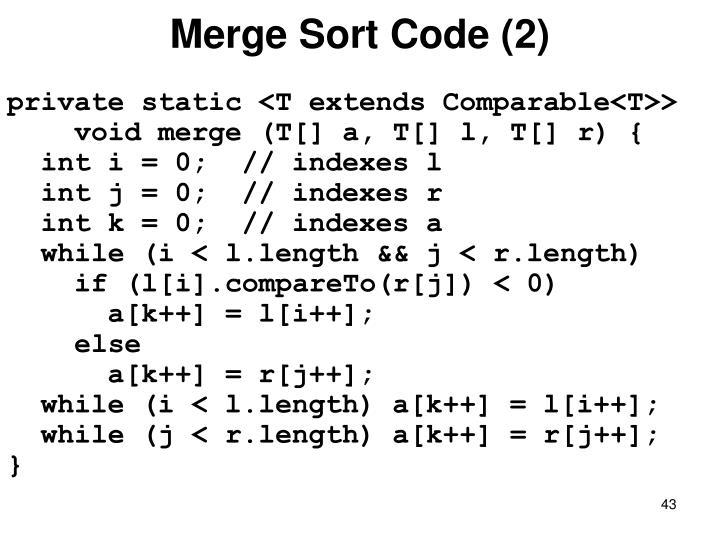 Merge Sort Code (2)