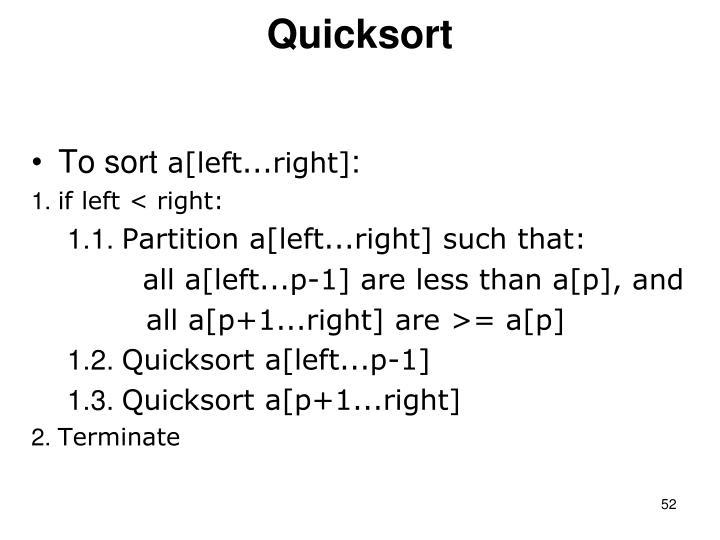 Quicksort