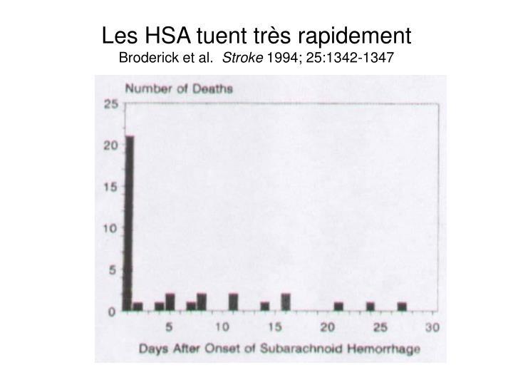 Les HSA tuent très rapidement
