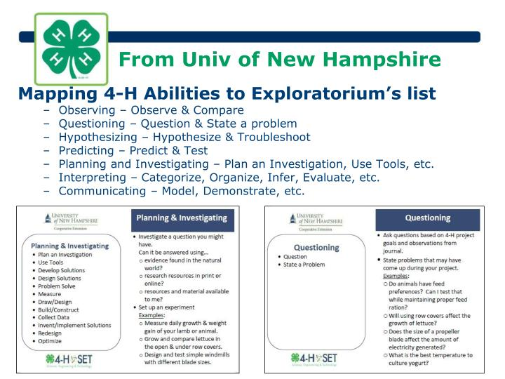 From Univ of New Hampshire